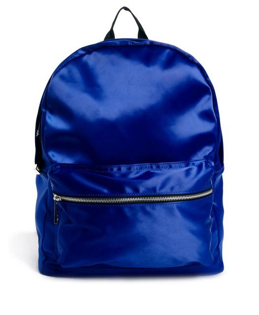 Blue Satin Backpack-NRoH
