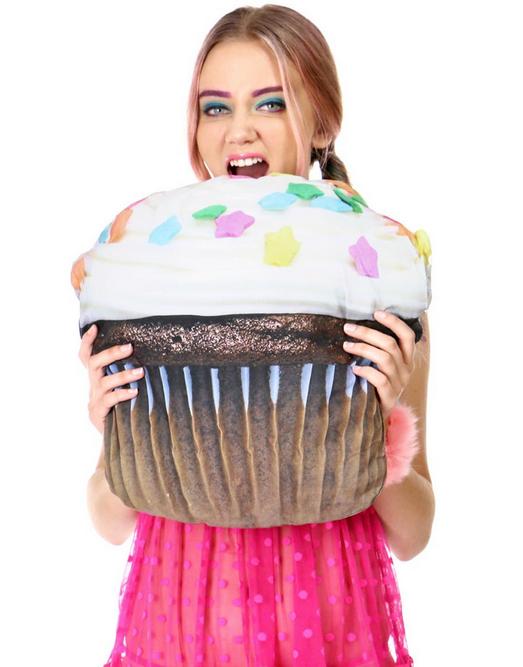 cupcake throw pillow NRoH