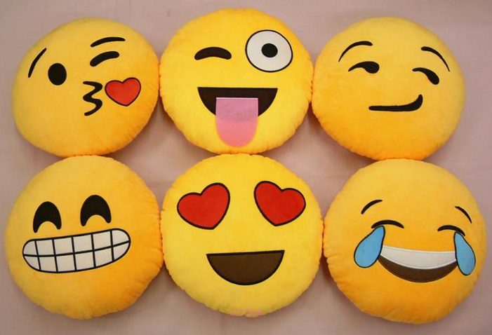 emoji throw pillow NRoH
