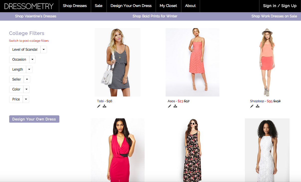 Dressometry Homepage