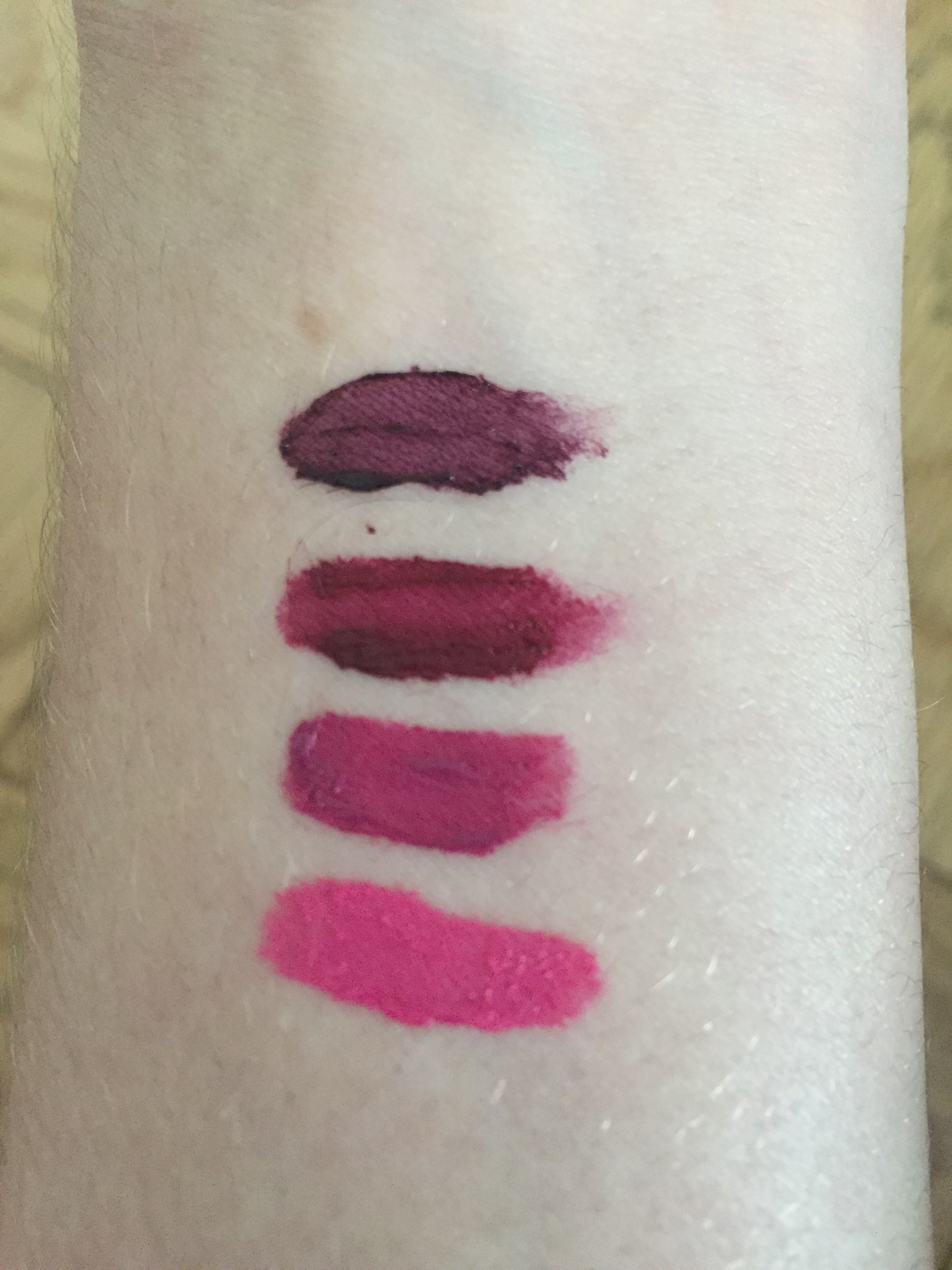 NYX swatches NROH