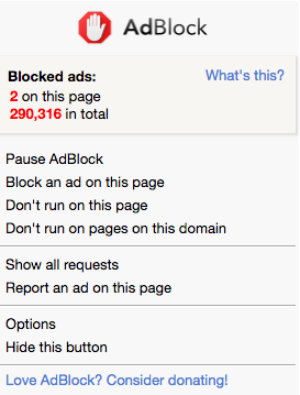 NRoH AdBlock chrome extensions
