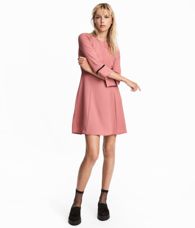 creped dress nroh hm