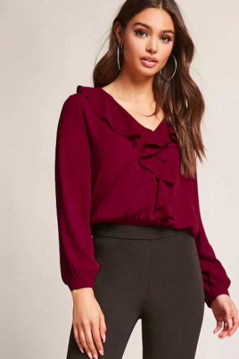 flounce accent top nroh
