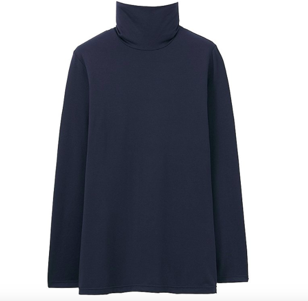no repeats or hesitations uniqlo turtleneck