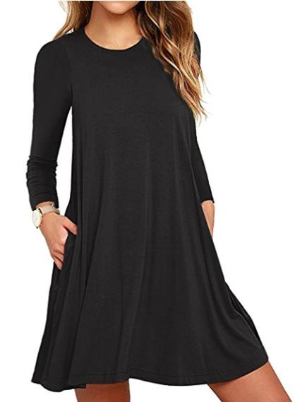 black dress no repeats or hesitations