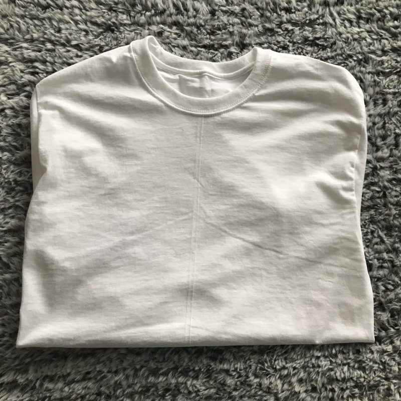 white t shirt no repeats or hesitations