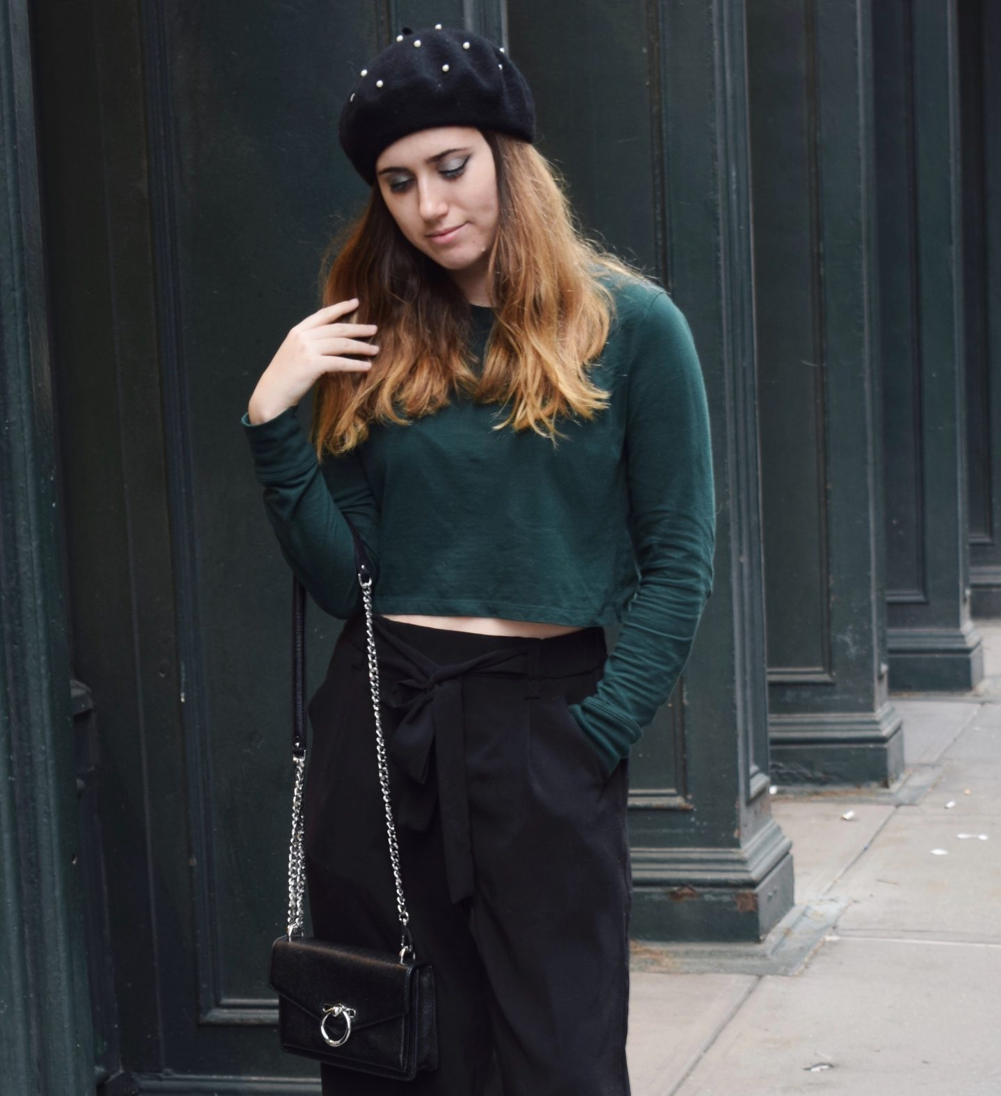 How to Wear Pine Green