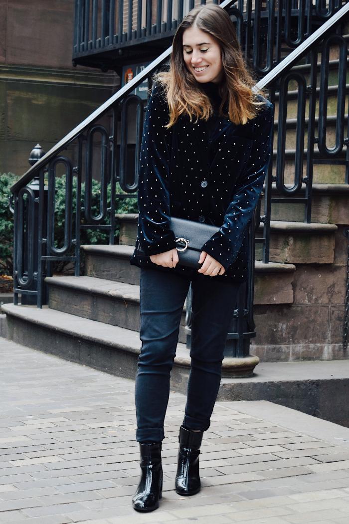 how to wear a sparkly blazer 6